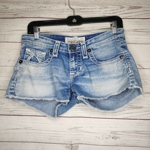 Big Star Liv Denim Jean Shorts Size 26 Lightwash